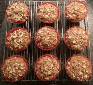 Muffins cooling on a rack