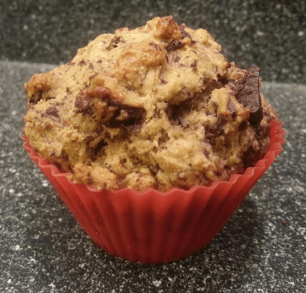Recipe: Banana chocolate chunk muffins