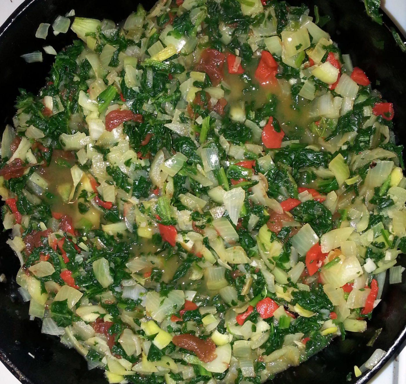 Recipe: Slow cooker spinach and red pepper strata