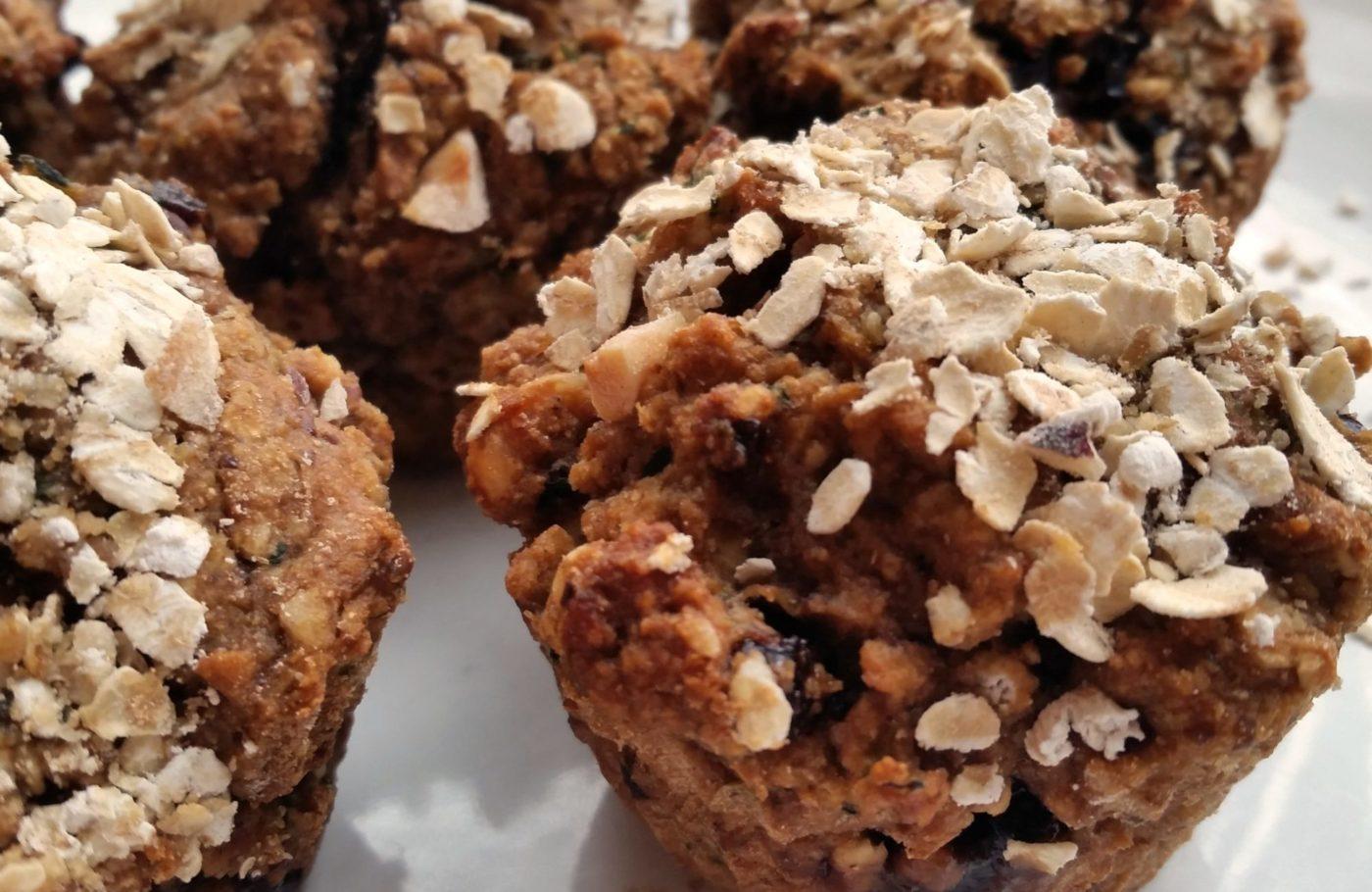 Recipe: Lemon-Cherry-Hazelnut Muffins (Vegan)