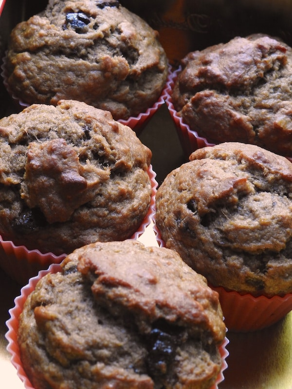 protein-packed banana muffins